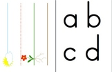 ABC lower case correct letter placement center