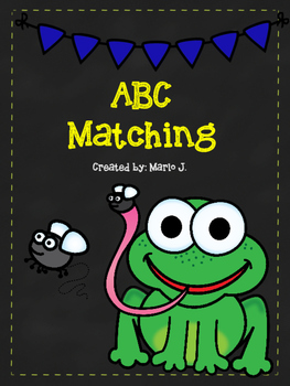 ABC matching frog themed