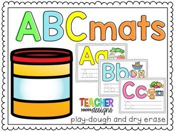 ABC mats - play-dough and dry erase