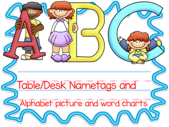 ABC nametags and chart