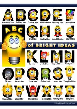 ABC of Bright Ideas (Alphabet Poster)