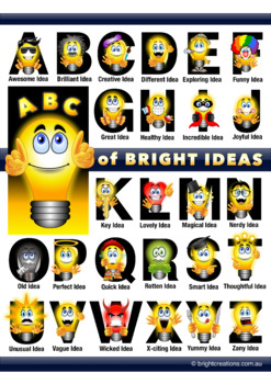 ABC of Bright Ideas (Alphabet Poster)