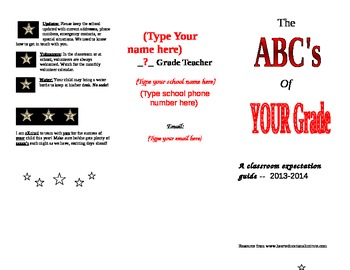 ABC of the classroom - a student guide to classroom expectations