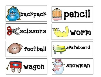 Alphabetizing Center (picture and word cards included)