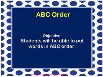 Mimio ABC order