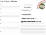 ABC order Station work
