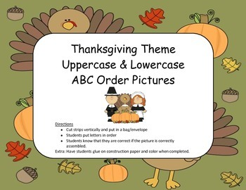 ABC order - Thanksgiving Themed
