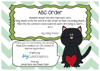 ABC order and vowel sound