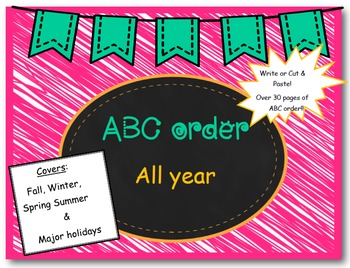 ABC order for the entire year!