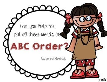 ABC order fun!!!!