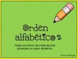 ABC order in Spanish 2