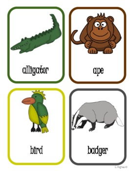ABC order multi-level animal theme