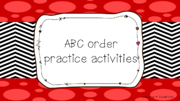ABC (Alphabetical) order practice