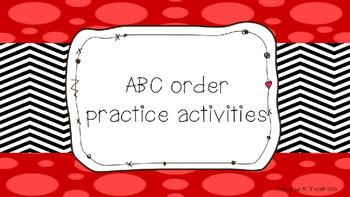 ABC (Alphabetical) order practice
