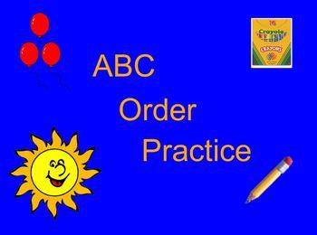 ABC order practice flipchart