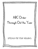 ABC order through out the year