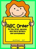 ABC order to 1st, 2nd, and 3rd letters