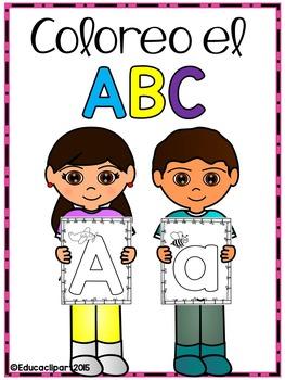Abecedario para colorear / Spanish ABC coloring pages