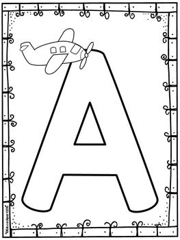 Abecedario para colorear / Spanish ABC coloring pages