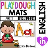 ABC play dough mats