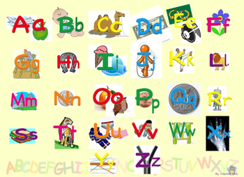ABC poster and flashcards