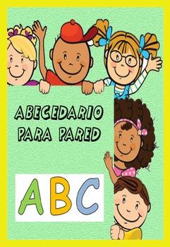 ABC poster de tu abecedario para colgar en clase.