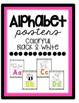 ABC posters -- Colorful and B&W
