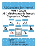 ABC posters for French / ABC affiches pour le français