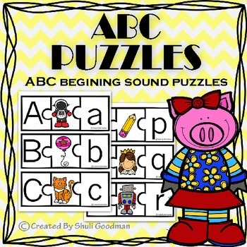 ABC puzzles - Letter recognition and beginning sounds