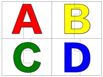 ABC puzzles - capital AND lower case letters