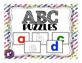 ABC puzzles - lowercase letters
