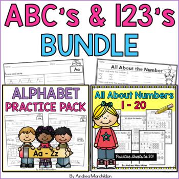 ABC's & 123's Bundle Practice Pack