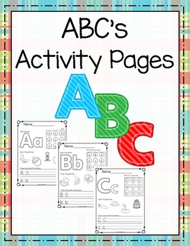 ABC's Activity Pages