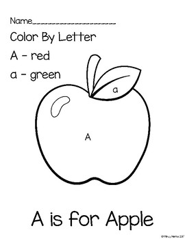 ABC's Color By Letter