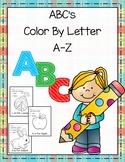 ABC's Color By Letter