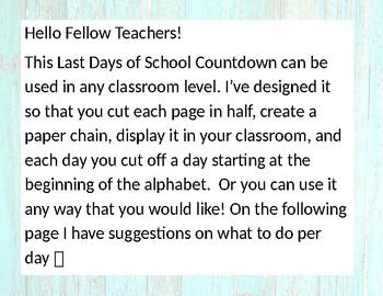 ABC's Last Days of School