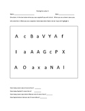 ABC's Letter Recognition Practice Packet