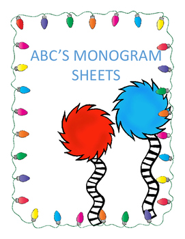 ABC's Monogram Sheets