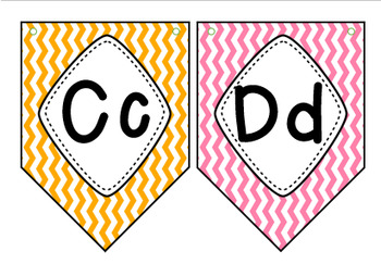 ABC's Pennant Banner ~ Multi-Colored