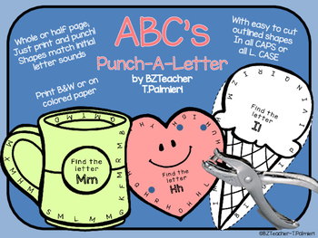 ABC's Punch-A-Letter Recognition - Common Core Aligned