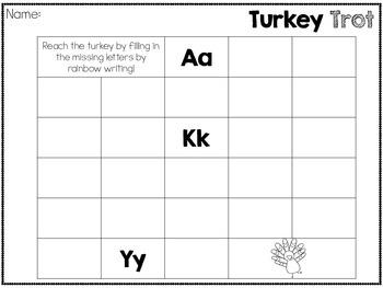 ABC's Turkey Trot Freebie!