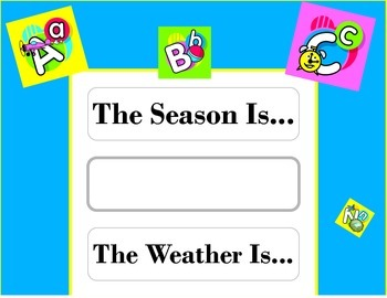 ABC s Weather Chart! ABC s Bulletin Board! ABC s Theme! Alphabet Bulletin Board!