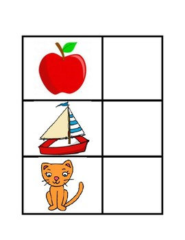ABC's: Picture Match Work Task Box