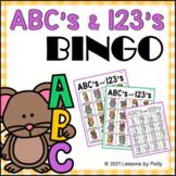 ABC's and 123's Bingo