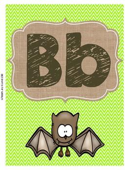 ABC's and 123's {Camping, Burlap, Chevron}