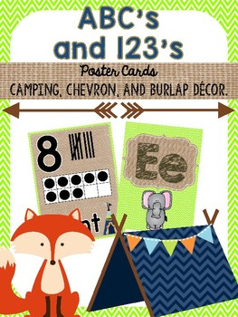 ABC's and 123's {Camping, Burlap, Chevron}