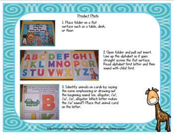 ABC's and Beginning Sounds File Folder Activity