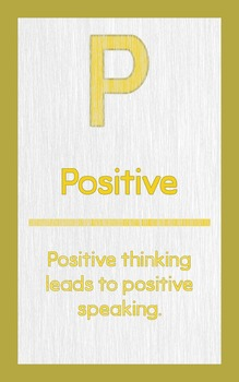 """ABC's of Character - Letter """"P""""- Poster"""