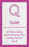 "ABC's of Character - Letter ""Q""- Poster"