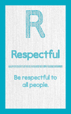 "ABC's of Character - Letter ""R""- Poster"